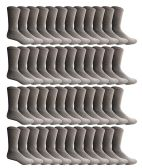 48 of Yacht & Smith 48 Pack Men's Cotton Crew Socks Heavy Cotton Great For Donations and Sock Drives. (Gray, Mens 10-13)