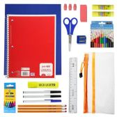 24 of 32 Piece Kids Bulk School Supply Kits - Wholesale School Supplies