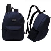 """24 of 17"""" Classic Navy Wholesale Backpacks"""