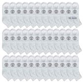 36 of Yacht & Smith Wholesale Kids Mid Ankle Socks, With Free Shipping Size 6-8 (White)