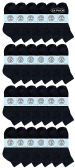 24 of Yacht & Smith Wholesale Kids Mid Ankle Socks, With Free Shipping Size 6-8 (Black)