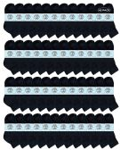 48 of Yacht & Smith Wholesale Kids Mid Ankle Socks, With Free Shipping Size 6-8 (Black)