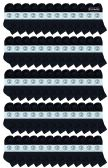 72 of Yacht & Smith Wholesale Kids Mid Ankle Socks, With Free Shipping Size 6-8 (Black)