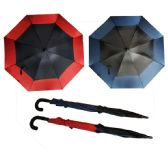 36 of 41 X 52 DOUBLE WIND PROOF UMBRELLA ASSORTED COLORS