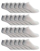 24 of Yacht & Smith Men's Wholesale Bulk No Show Ankle Socks, With Free Shipping - Size 10-13 (White)