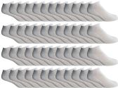 48 of Yacht & Smith Men's Wholesale Bulk No Show Ankle Socks, With Free Shipping- Size 10-13 (White)