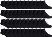 48 of Yacht & Smith Men's Wholesale Bulk No Show Ankle Socks,With Free Shipping - Size 10-13 (Black)