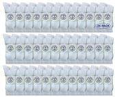 36 of Yacht & Smith Men's Wholesale Bulk Cotton Socks,With Free Shipping Size 10-13 (White)