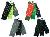 12 of Mens Funky Printed Dress Socks, Mixed Patterns