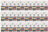 36 of Yacht & Smith Wholesale Kids Tube Socks,With Free Shipping Size 4-6 (White w/Stripes)