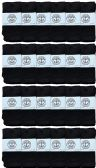 24 of Yacht & Smith Wholesale Kids Tube Socks,With Free Shipping Size 4-6 (Black)