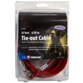 24 of Dog Tie-out Cable With 2 Swivel Snaps 20 Feet Peerless