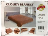 24 of One Ply Plain Brown Color Queen size Blanket
