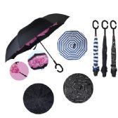 24 of Windproof Reverse Folding Umbrella [Assorted Prints]