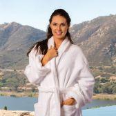3 of Deluxe Shawl Collar Luxury Bathrobe In White