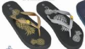 36 of Womens Graphic Print Flip Flop Thong Sandal Beach Pool or Everyday