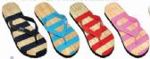 48 of Womens Comfort Thong Style Flip Flops Sandals Striped