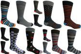 120 of Mens Dress Socks Value Deal Mix Prints, Stripes and Solid Colors Size 10-13