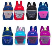 24 of Classic Bungee Wholesale Backpacks in 8 Assorted Colors