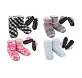 20 of Cozy House Booties Assorted Words Bottom