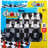 48 of 32PC CHESS PLAY SET IN PEGABLE WINDOW BOX