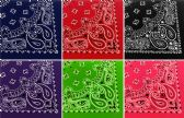 60 of Assorted Cotton Bandana Mixed Prints, Mixed Colors