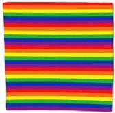 600 of Cotton 22x22 Rainbow Bandana