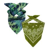 144 of Camo And Olive Green 22x22 Inch Cotton Bandanna 2 Colors Only