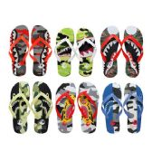96 of Men's Printed Flip Flops