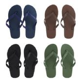 96 of Men's Solid Color Flip Flops