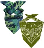 60 of Camo And Army Green Cotton Bandanna 22x22 Inch Cotton FREE SHIPPING