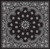 60 of Yacht & Smith 22 x 22 Inch Cotton Bandanna In Black Paisley FREE SHIPPING