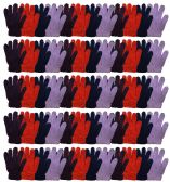 72 of Yacht & Smtih Womens Assorted Colors Warm Fuzzy Gloves