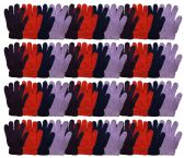 48 of Yacht & Smtih Womens Assorted Colors Warm Fuzzy Gloves