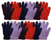 12 of Yacht & Smtih Womens Assorted Colors Warm Fuzzy Gloves