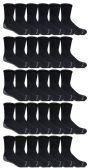 60 of Yacht & Smith Mens Loose Fit Gripper Bottom Non-Skid Slipper Socks ,Yoga, Trampoline Socks Solid Black