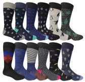 60 of Yacht & Smith Assorted Design Mens Dress Socks, Sock Size 10-13 Assorted 12 Designs