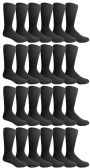 24 of Yacht & Smith Mens Classic Combed Cotton Black Ribbed Dress Socks
