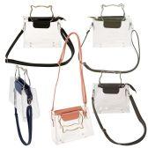 24 of Women's Clear PVC Crossbody Bag with Cat Ear Handles