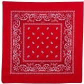 36 of Yacht & Smith 22x22 Inch Cotton Red Paisley Bandanna