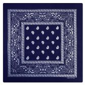 36 of Yacht & Smith 22 x 22 Inch Cotton Bandanna In Navy Paisley