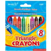 144 of 8ct Triangle Crayons