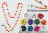 60 of Scented wood Cross Rosary Necklace