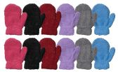 60 of Yacht & Smith Kids Glitter Fuzzy MIttens Gloves Ages 2-7