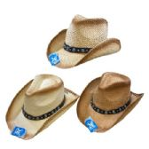 24 of Classic Woven Cowboy Hat [Aquamarine Hat Band]