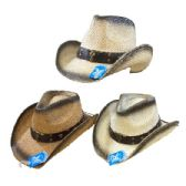 24 of Classic Woven Cowboy Hat [Black Shading/Steer]