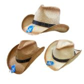 24 of Classic Woven Cowboy Hat [Studded Hat Band]