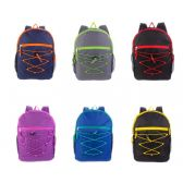 """24 of 17"""" Bungee Backpacks in 6 Assorted Colors"""