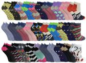 120 of Assorted Pack Of Womens Low Cut Printed Ankle Socks BULK BUY