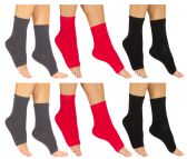 6 of Yacht & Smith Women's Cotton Pedicure Socks, Open Toe Flip Flop Socks, Sock Size 9-11